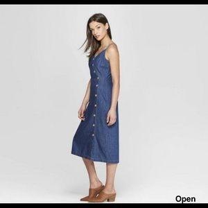 NWT universal thread denim button dress Target XS